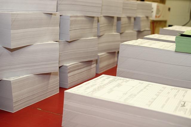 balíky výtisků