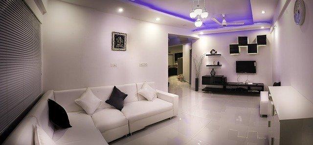 interiér s moderním osvětlením